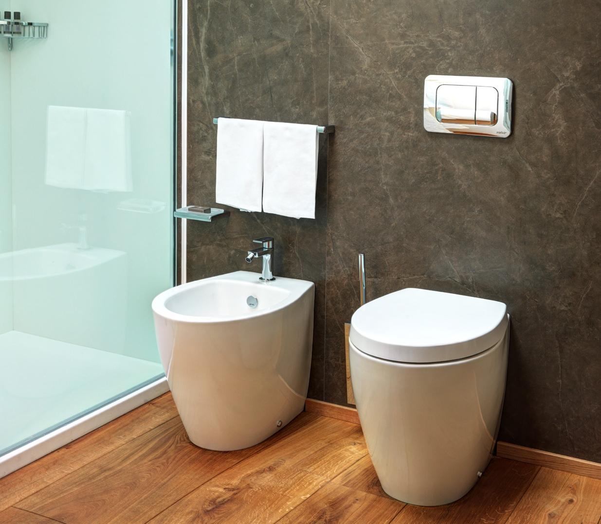 Sanitari simas serie lft spazio filo parete edilia srl - Smalto per pareti bagno ...